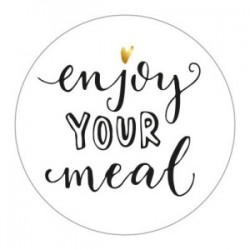 Enjoy your meal  ...