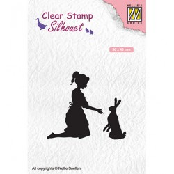 Silhouet Clear stamps 'girl...