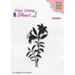Clear Stamps, Silhouettes Lily