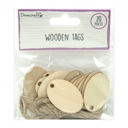 Dovecraft Wooden Oval Tags...